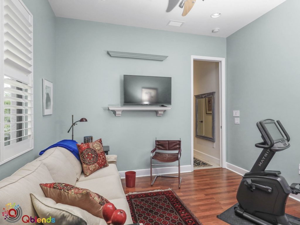 Real estate photo blending image